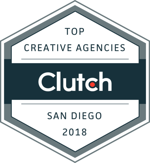 Named Top 10 San Diego Creative Agencies - Named one of the Top 10 Creative Agencies in San Diego by Clutch.co
