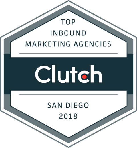 Named Top 10 San Diego Inbound Marketing Agencies - Named one of the Top 10 Inbound Marketing Agencies in San Diego by Clutch.co