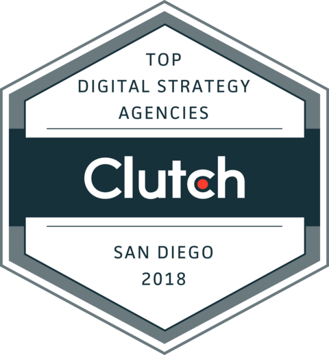 Named #11 in Top 20 San Diego Digital Strategy Agencies - Named One of the Top 20 (#11) Digital Strategy Agencies in San Diego by Clutch.co