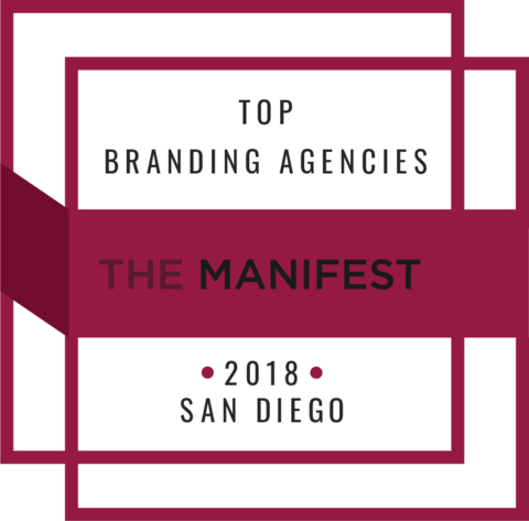 Named Top 10 San Diego Branding Agencies - Named one of the Top 10 Branding Agencies in San Diego by agency research platform The Manifest